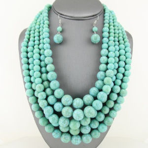 Jewelry - Turquoise Layered Beaded Necklace